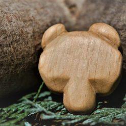 Hand Carved Wooden Bear Magnet