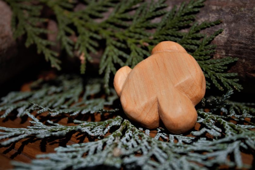 Hand Carved Wooden Bear Magnet 2