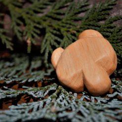 Hand Carved Wooden Bear Magnet 4