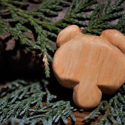 Hand Carved Wooden Bear Magnet 5