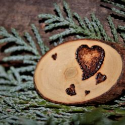 Heart Magnet (Wood Pyrography)