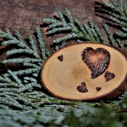 Heart Magnet (Wood Pyrography) 4