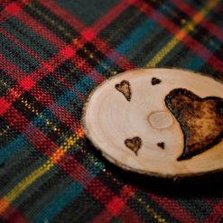 Heart Magnet (Wood Pyrography) 5