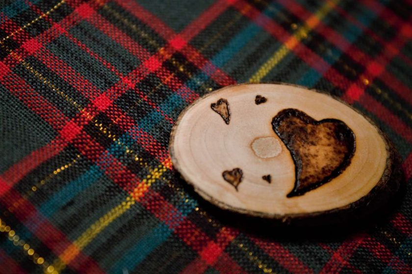 Heart Magnet (Wood Pyrography) 3