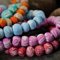 Marbled Bead Bracelets (Polymer Clay)