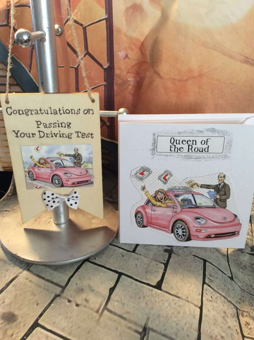 Hanging Banner and Card Set - Driving Test Congratulations - Well Done!