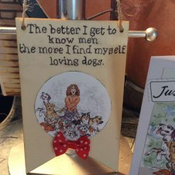 Dog Lover's Wooden Hanging Banner and Matching Card - For All Dog Loving Ladies 1