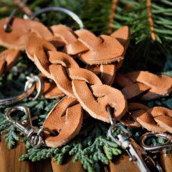Leather Weave Keyring Set 1