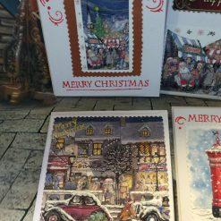 Set of 4 Handmade Christmas Cards - Traditional Set One 1