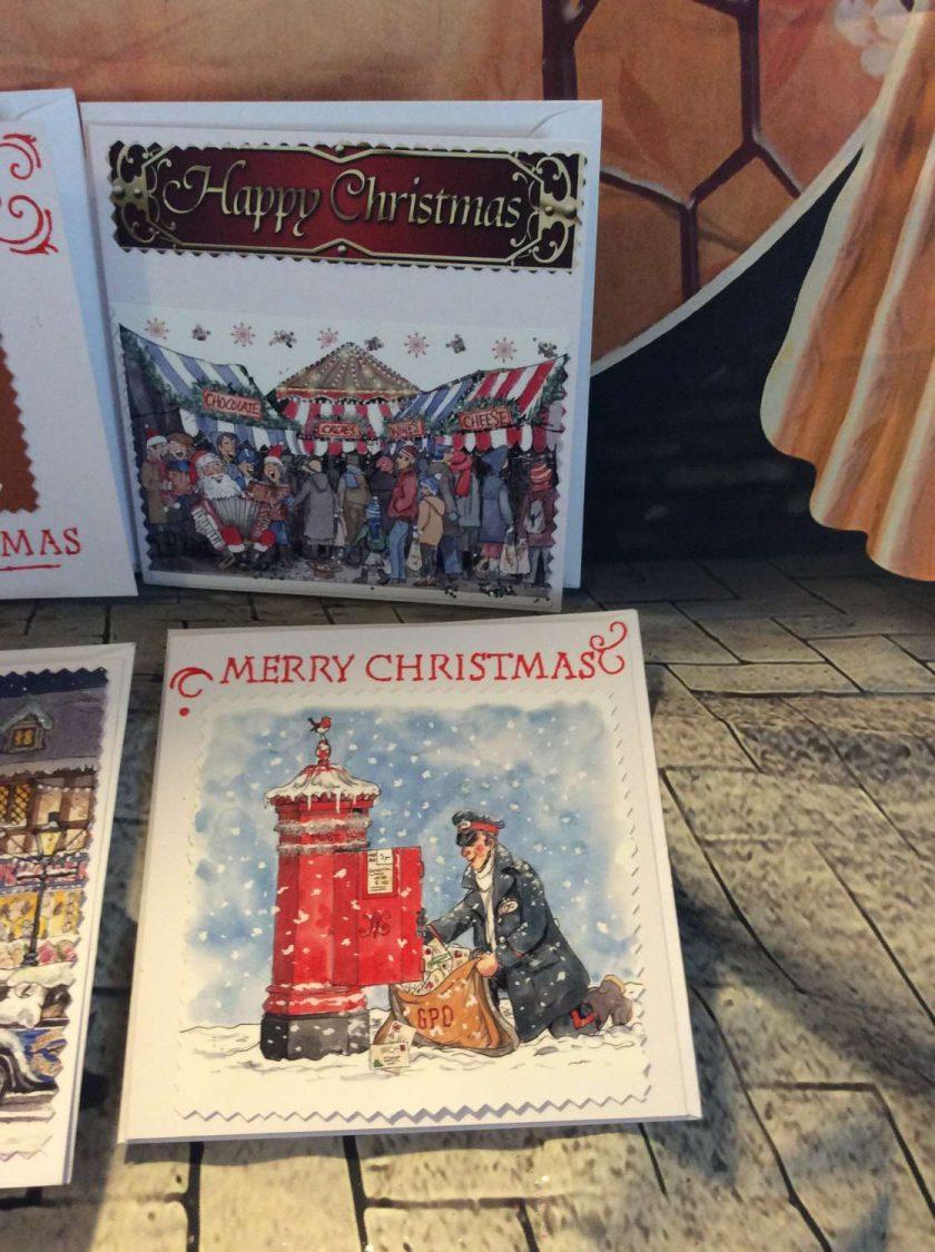 Set of 4 Handmade Christmas Cards - Traditional Set One