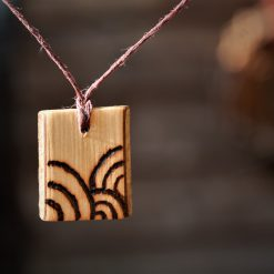 Circles Wooden Necklace (Pyrography)