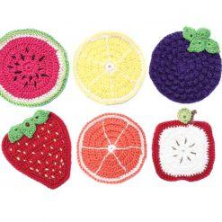 Crochet Pattern for Fruit Coasters