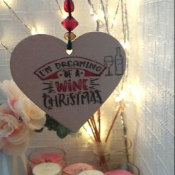 """Hand-Etched Boozy Christmas Decorations: """"I'm Dreaming of A Wine Christmas"""""""