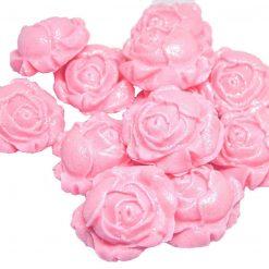 12 Lovely Edible Rosebud Flower Cake or Cupcake Decorations