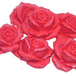 6 Beautiful Large Edible Rose Flower Cake Decorations