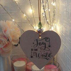 """Hand-Etched Christmas Decorations: """"Joy To The World"""""""