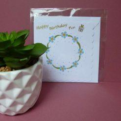 Hand painted 'Nan' daisies themed birthday card.