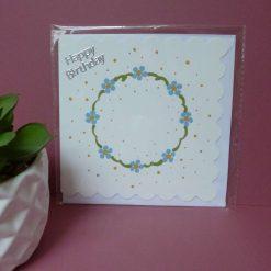 Hand painted daisy themed birthday card.