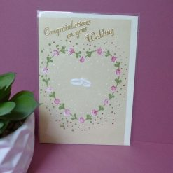 Hand painted Congratulations on your Wedding card