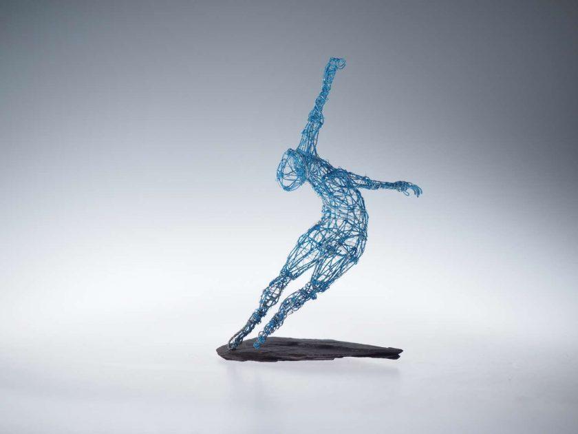Dance Sculpture - Roll The Dice - Wire Sculpture 2