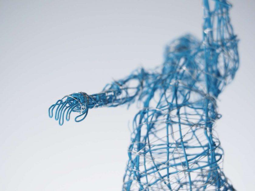 Dance Sculpture - Roll The Dice - Wire Sculpture 6