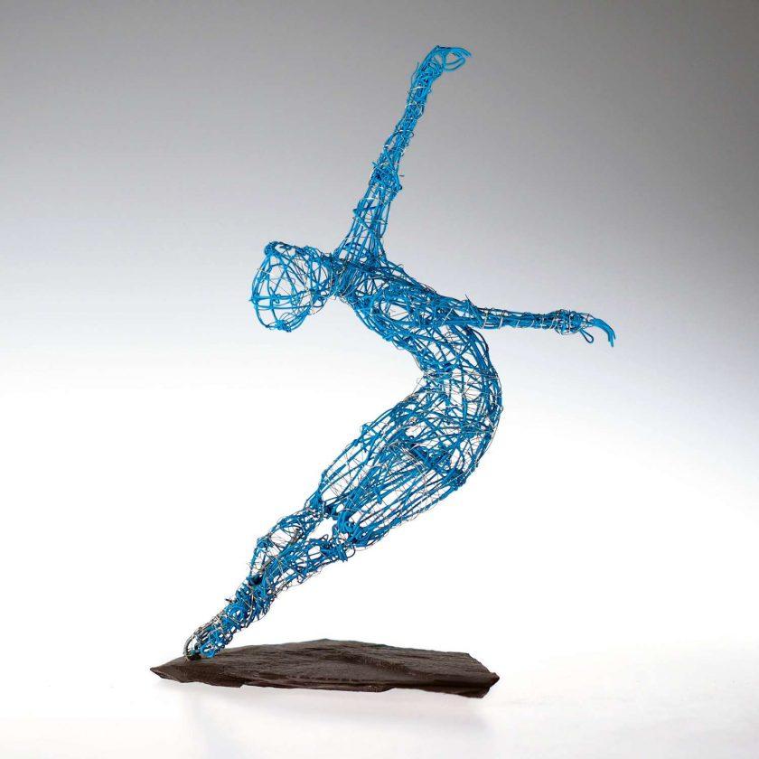 Dance Sculpture - Roll The Dice - Wire Sculpture 1