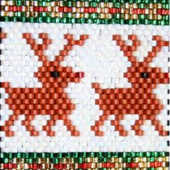 Rudolph the Red Nose Reindeer Even Count Peyote Pen Cover