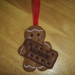 Gingerbread man with bourbon biscuit