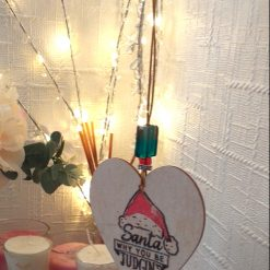 """Hand-Etched Humorous Christmas Decorations: """"Santa, Why You Be Judgin'?"""""""