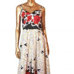 Ankara Red White  maxi dress, print dress, gathered dress, African print dress, Ankara dress, maxi dress, maxi, African clothing, Chitenge 8