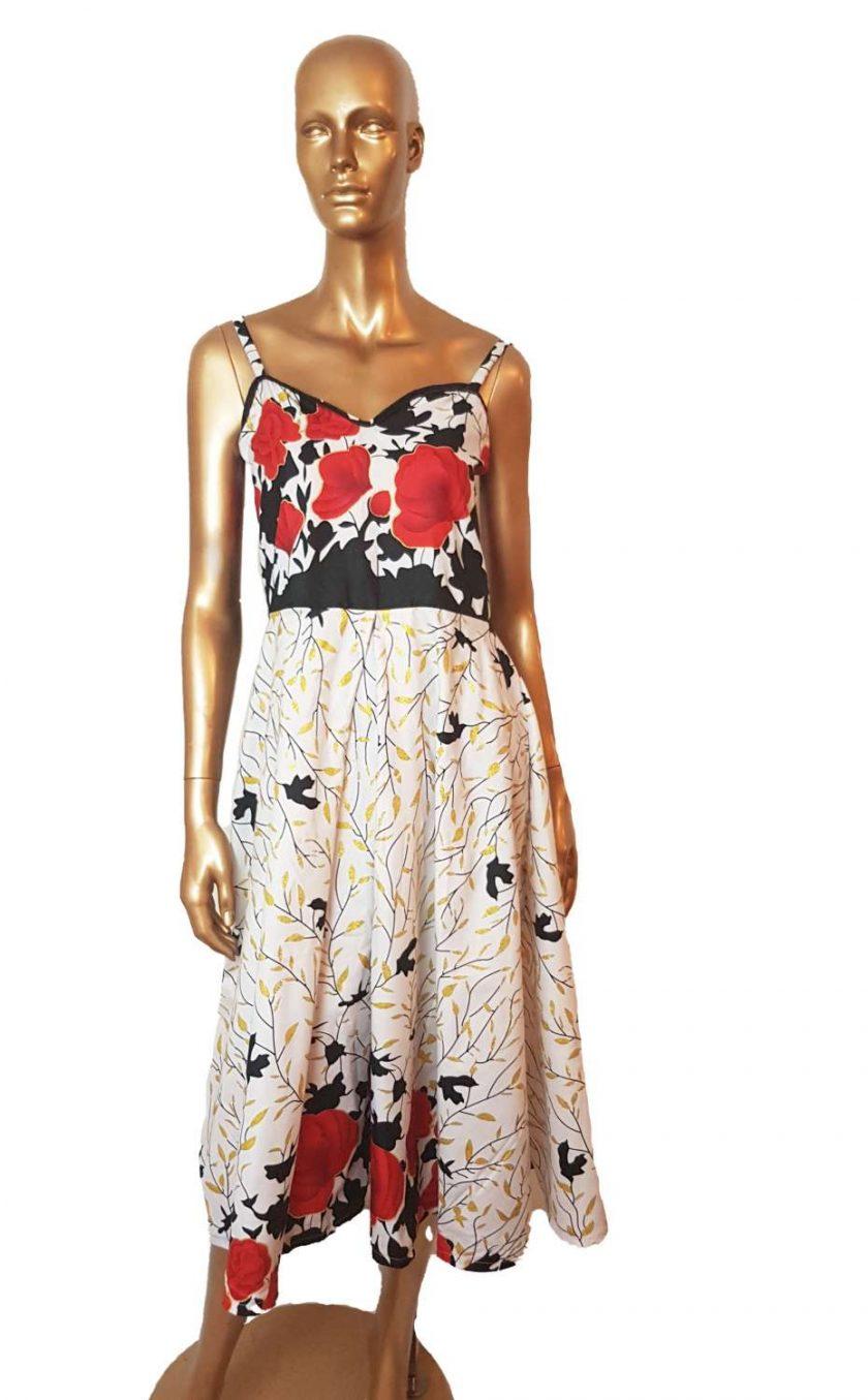Ankara Red White  maxi dress, print dress, gathered dress, African print dress, Ankara dress, maxi dress, maxi, African clothing, Chitenge 4