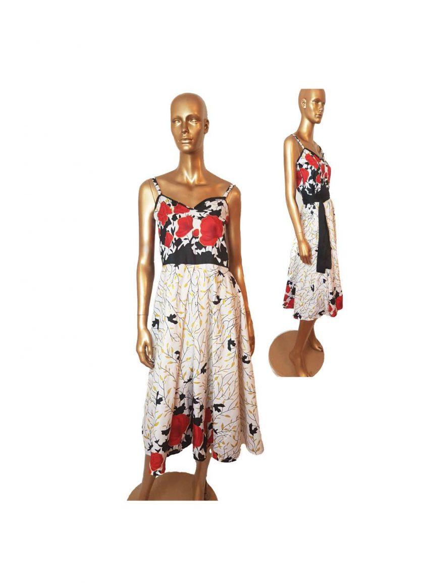 Ankara Red White  maxi dress, print dress, gathered dress, African print dress, Ankara dress, maxi dress, maxi, African clothing, Chitenge 5