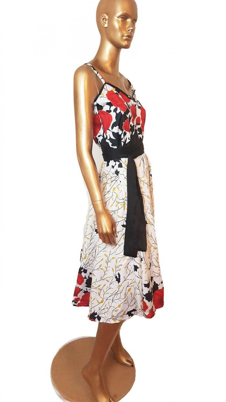 Ankara Red White  maxi dress, print dress, gathered dress, African print dress, Ankara dress, maxi dress, maxi, African clothing, Chitenge 1