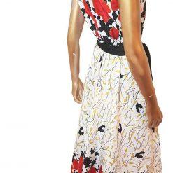 Ankara Red White  maxi dress, print dress, gathered dress, African print dress, Ankara dress, maxi dress, maxi, African clothing, Chitenge 6