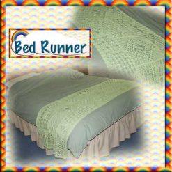 Bed Runner - crochet pattern