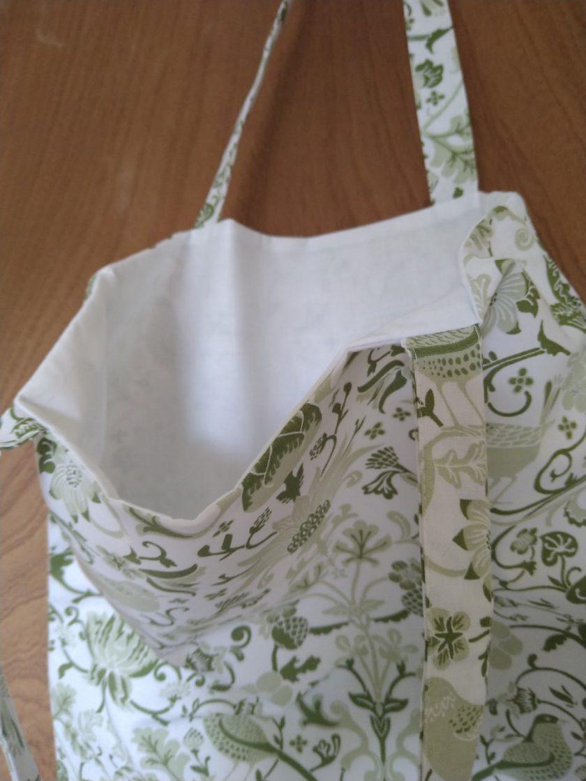 Tote bag green birds 3