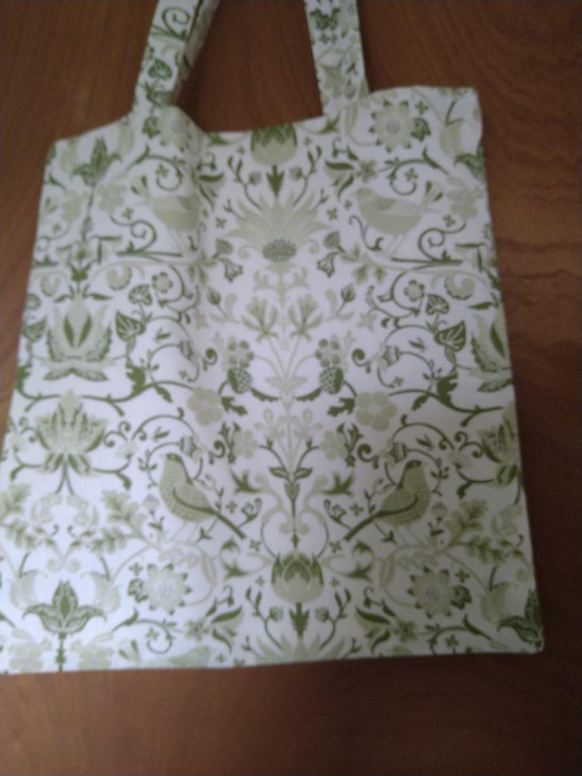 Tote bag green birds 1
