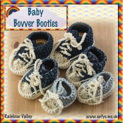 Baby Bovver Booties - crochet pattern