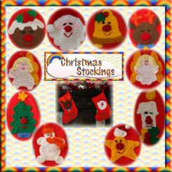 Christmas Stockings - crochet pattern