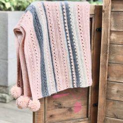 FREE Easy Stripy Crochet Blanket Pattern