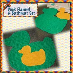 Duck Bathroom Set - crochet pattern