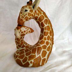 A mothers Love (Giraffe sculpture)