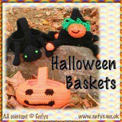 Halloween Baskets - crochet pattern