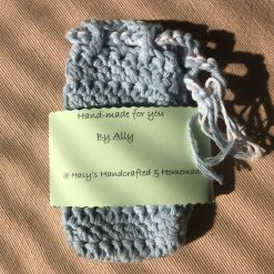 Crochet Soap Bag Pale Blue