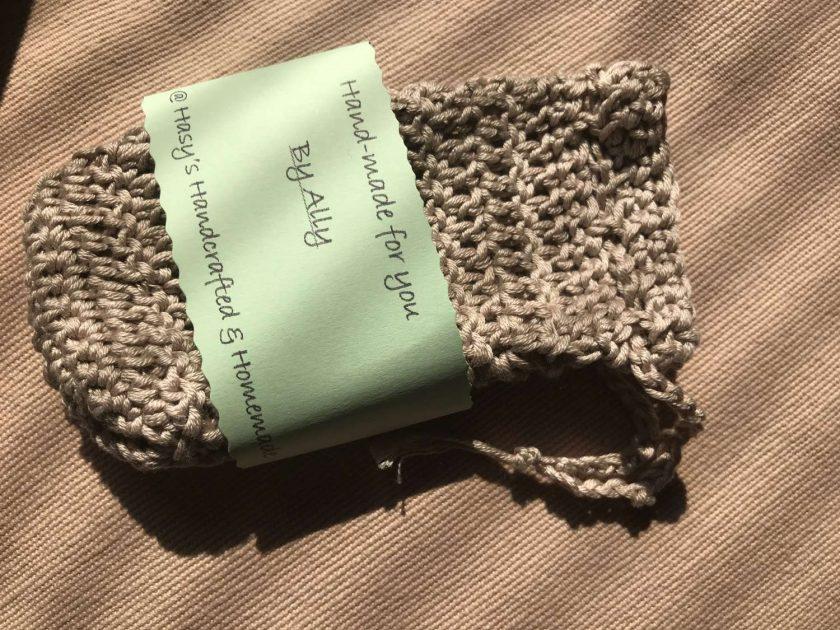 Crochet Soap Bag Beige 1