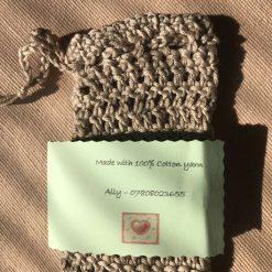 Crochet Soap Bag Beige 5