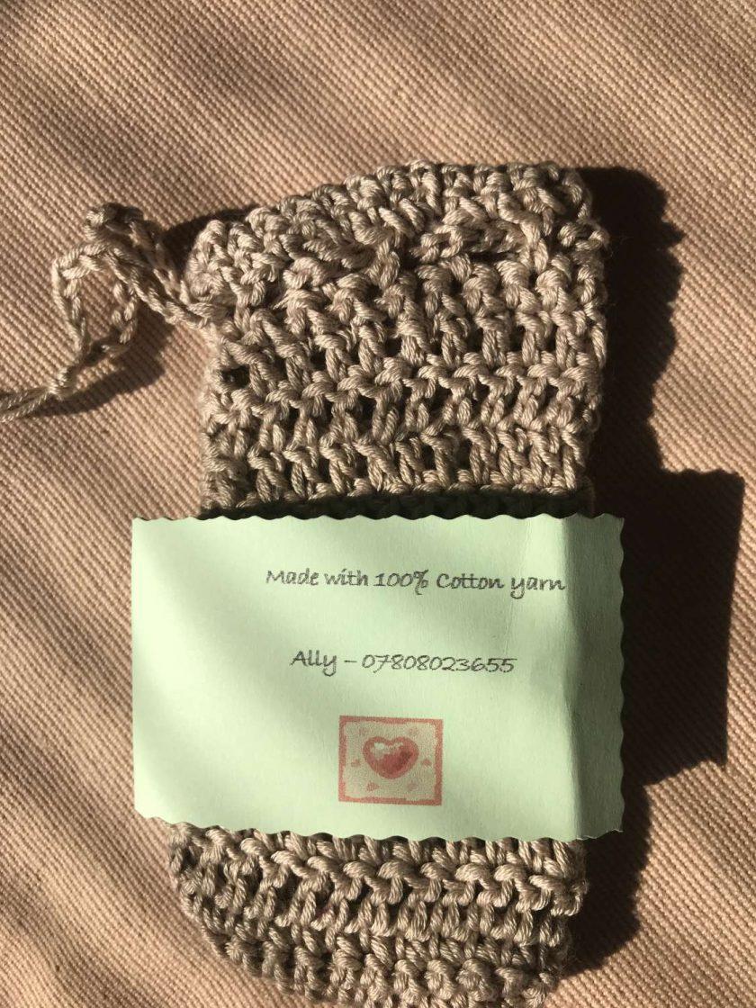 Crochet Soap Bag Beige 3