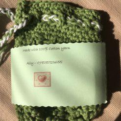 Crochet Soap Bag - Green 7