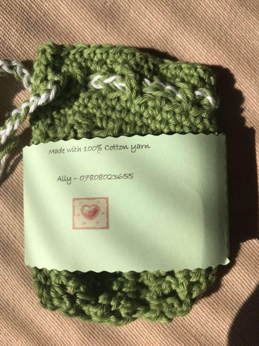 Crochet Soap Bag - Green 4