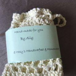 Crochet Reusable Cleansing  Pads (6) and  Bag - Pale Yellow 7